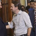 Pablo Iglesias en el día de la Constitución