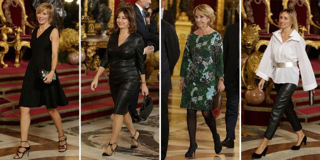 Estilismos de las invitadas por Casa Real en la Fiesta Nacional