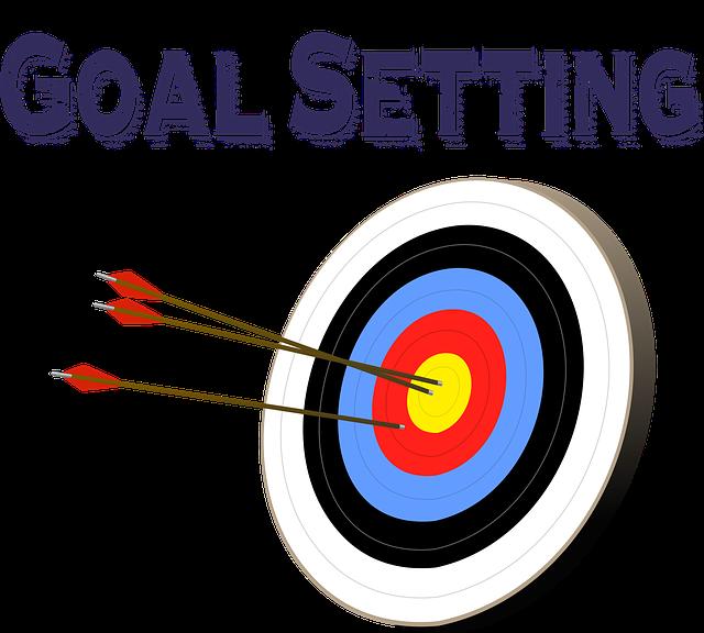 establecer objetivos en un evento