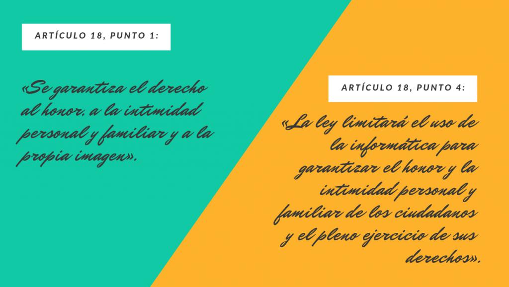 artículo 18 de la Constitución española de 1976
